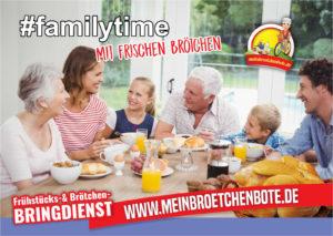 Genießen Sie Ihr Familienfrühstück